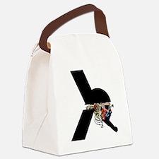 Alien Warrior - Sci-Fi illustrati Canvas Lunch Bag