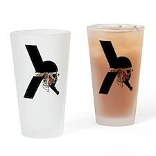 Alien Warrior - Sci-Fi illustration Drinking Glass