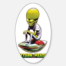 Return of the Mekon scifi vintage Decal