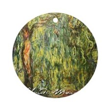 Claude Monet Weeping Willow Round Ornament