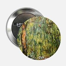 "Claude Monet Weeping Willow 2.25"" Button"