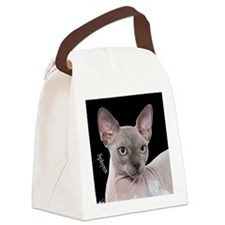 Sphynx Cat Ornament Canvas Lunch Bag