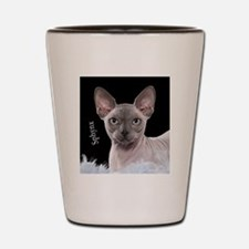 Sphynx Cat Ornament Shot Glass