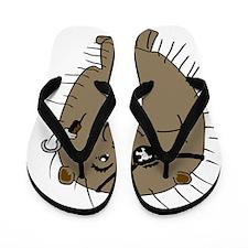 Porcupine pirate Flip Flops
