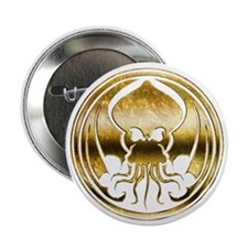 """Call of Cthulhu chromed 2.25"""" Button"""