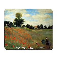 Monet Wild Poppies near Argenteuil Mousepad