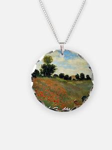 Monet Wild Poppies near Arge Necklace