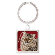 Selkirk Rex Kitten Ornament Square Keychain