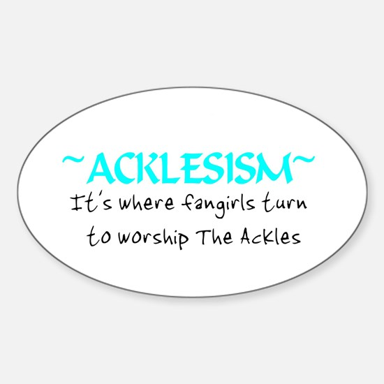 Acklesism Oval Decal