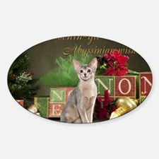 Abyssinian Cat Christmas Card Decal