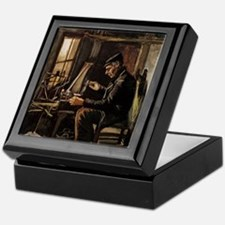 Van Gogh Man Winding Yarn Keepsake Box