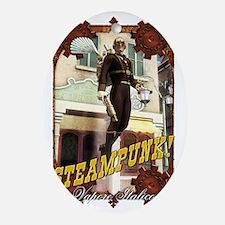 Steampunk - Flying Man Oval Ornament