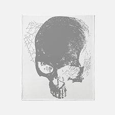 Skull - Pulp Illustration Throw Blanket