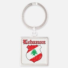 Lebanon Coat of Arms Square Keychain