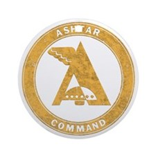 UFO Ashtar Command scifi vintage Round Ornament