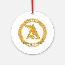 UFO Ashtar Command scifi vintage Round Ornament