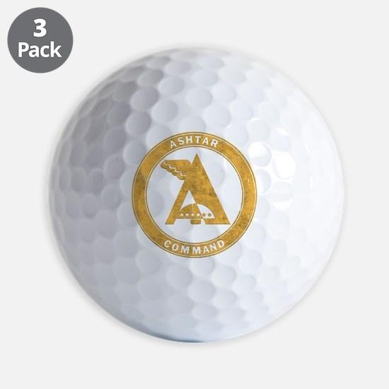 UFO Ashtar Command scifi vintage Golf Ball