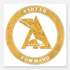 """UFO Ashtar Command scifi Square Car Magnet 3"""" x 3"""""""