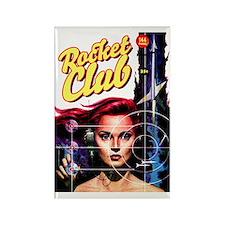 Rocket Club scifi vintage Rectangle Magnet