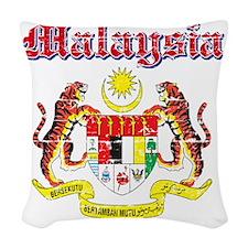 Malaysia Coat of Arms Woven Throw Pillow