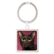 Havana Brown Cat Ornament Square Keychain
