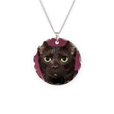 Havana Brown Cat Ornament Necklace