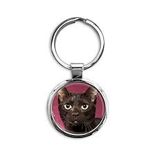 Havana Brown Cat Ornament Round Keychain