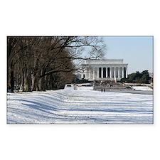 Lincoln memorial winter scene Decal