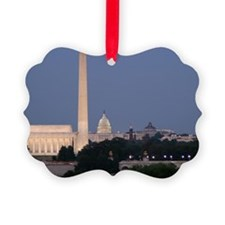 Lincoln Memorial, Washington Monu Ornament