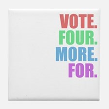 Vote four more for forty-four Shirt Tile Coaster