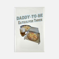 DADDY-TO-BE Eating for Three Magnets