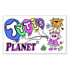Tytys Planet Business Card Decal