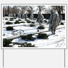 Korean war memorial veterans statues dur Yard Sign