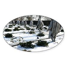 Korean war memorial veterans statue Decal