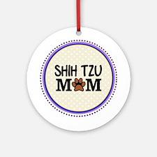 Shih Tzu Dog Mom Ornament (Round)