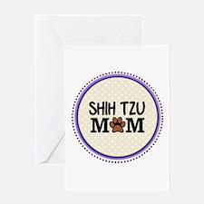 Shih Tzu Dog Mom Greeting Cards