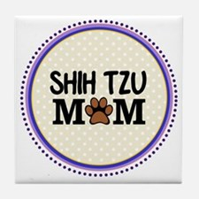 Shih Tzu Dog Mom Tile Coaster