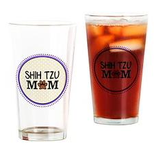 Shih Tzu Dog Mom Drinking Glass