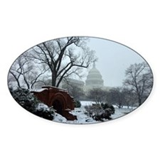 US Capitol Building Snow Photo Decal