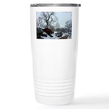 US Capitol Building Snow Photo Travel Mug