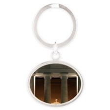 Lincoln memorial at night Oval Keychain