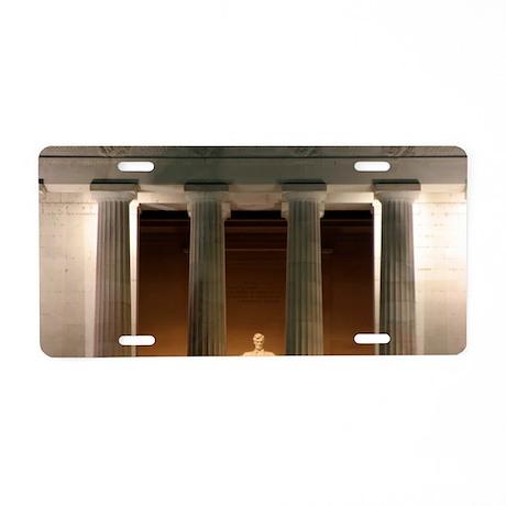 Lincoln memorial at night Aluminum License Plate