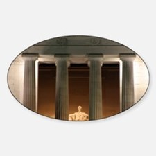 Lincoln memorial at night Decal
