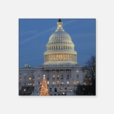 "US Capitol Building celebra Square Sticker 3"" x 3"""