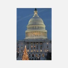US Capitol Building celebrates Ch Rectangle Magnet