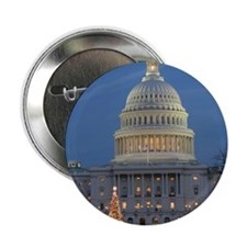"US Capitol Building celebrates Christ 2.25"" Button"