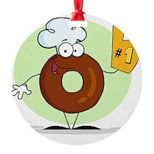 Doughnut_0022 Round Ornament