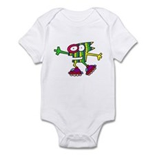 Roller Skating Monster Infant Bodysuit