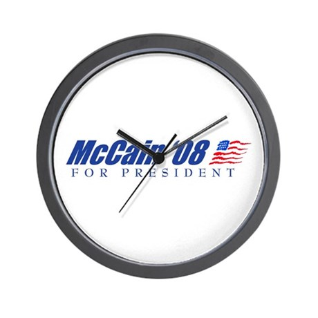McCain '08 For President Wall Clock