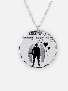 hero wears angel wings Necklace